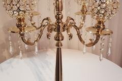 Gold Crystal Globe Candelabra