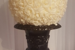 Black Urn and Rose Ball