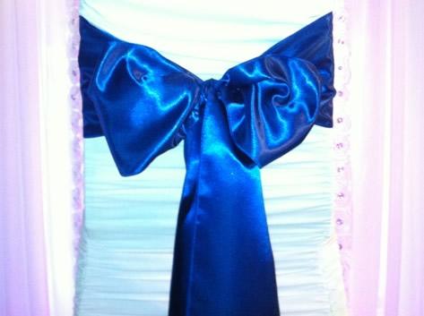 satin royal blue