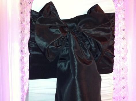 taffeta kimono black