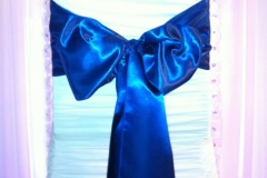satin royal blue