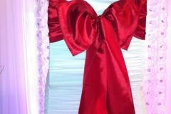 taffeta kimono red