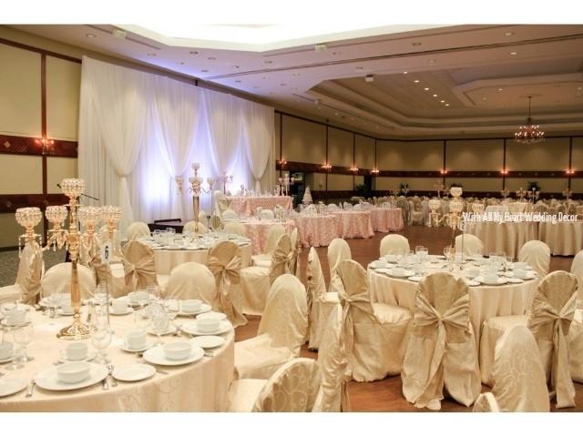 st volodymyr cultural centre oakville ontario pink rosette full room