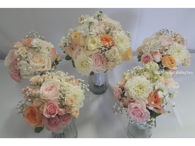 20a fresh floral bouquets soft pink
