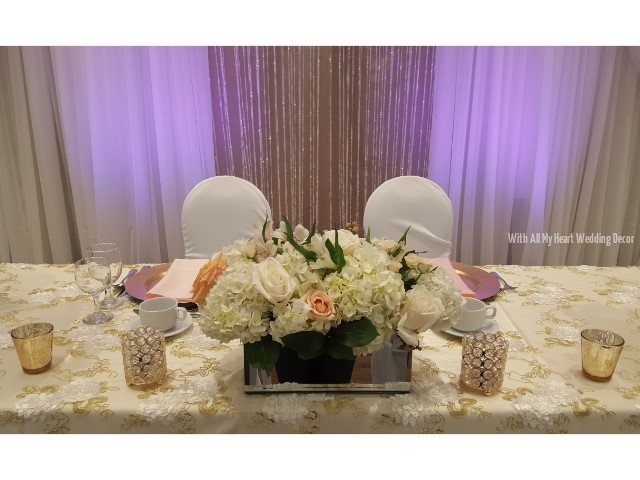 head table florals svcc