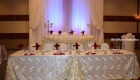 19a gold petal overlay head table