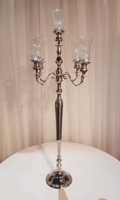 Classic Tall Silver Candelabra