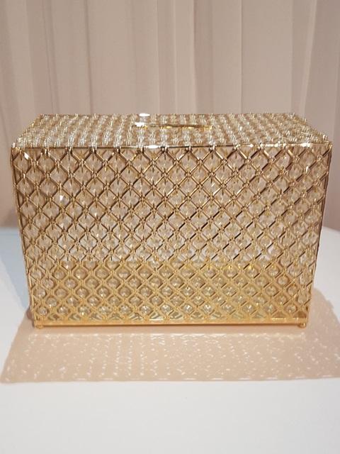 Gold Crystal Card Box