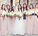 wedding party pink bouquets