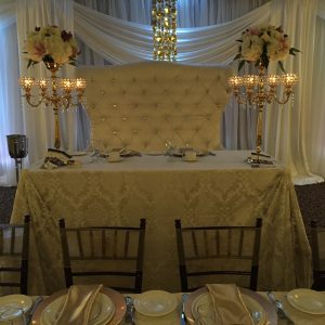 love seat ivory lace