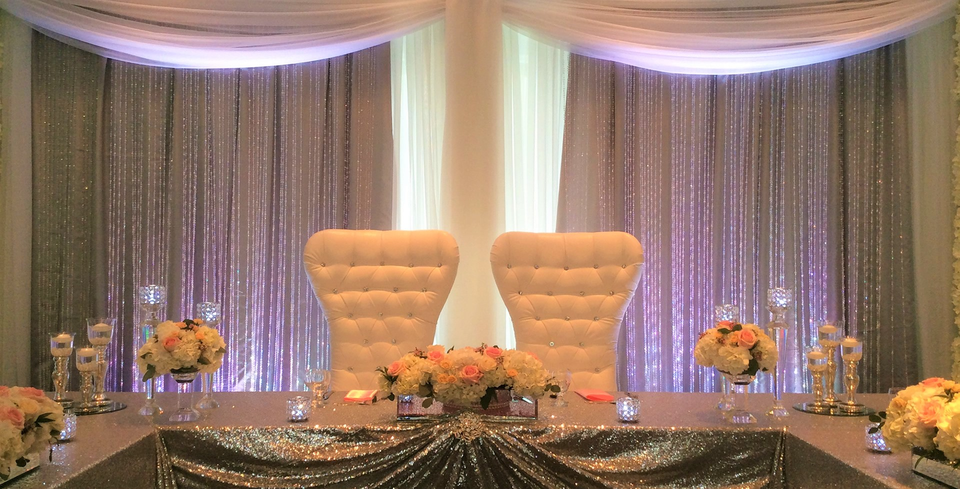 oakville conference centre throne chairs silver sequin